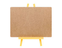 Blank board and wooden easel Stock Images