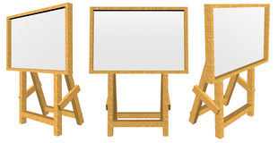 Blank board with wooden stand Royalty Free Stock Photo