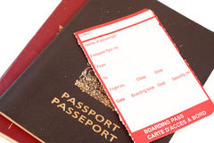 Blank boarding pass Stock Images