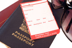 Blank boarding pass Stock Photo