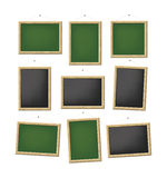 Blank boards. A set of blank green and black boards Stock Illustration