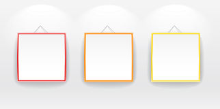 Blank boards with color frames Royalty Free Stock Image
