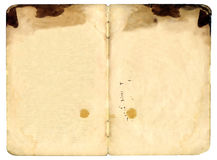 blank bok båda gammala öppna sidor Royaltyfria Bilder