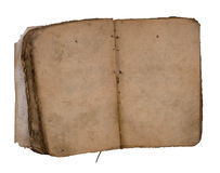 blank bok båda gammala öppna sidor Arkivbild
