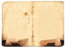 blank bok båda sjaskiga gammala öppna sidor Royaltyfria Bilder