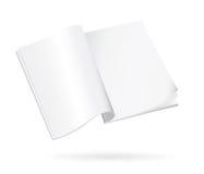 blank bok isolerat öppet Arkivbilder