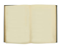 Blank Book. A rare and vintage book with blank weathered pages for copy Stock Image