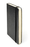 Blank book. Black bound book without cover text Stock Photo