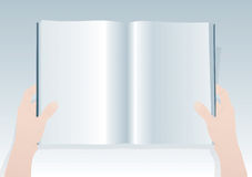 Blank Book 2. Vector Drawing Royalty Free Stock Image