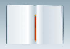 Blank Book 3. Vector Drawing Stock Photo