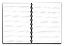 Blank book with black cover Stock Photography