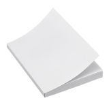 Blank book cover. On white background