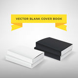 Blank book cover  illustration. Softcover book or magazine. Black and white color. Template for your design.  Stock Photo