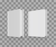 Blank book cover over white background. Blank book cover on checkered background. Vector illustration Stock Images