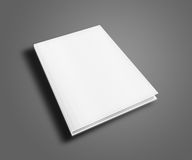Blank book cover template. Blank book cover template on gray background with shadows. 3D illustration Royalty Free Stock Photo