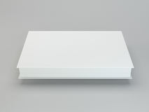 Blank book cover template on gray background with soft shadows. 3d rendering Royalty Free Stock Image