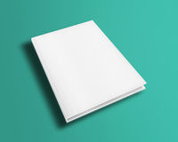 Blank book cover template. Blank book cover template on trendy flat background with shadows. 3D illustration Stock Image