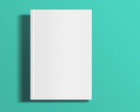 Blank book cover template. Blank book cover template on trendy flat background with shadows. 3D illustration Royalty Free Stock Photos