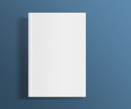 Blank book cover template. Royalty Free Stock Photo