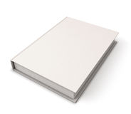 Blank book cover template. On white background with soft shadows. Perspective view. 3d render image Stock Photography