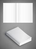 Blank of book cover, vector illustration. Template for your design. Stock Photography