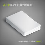 Blank of book cover, vector illustration. Template for your design. Stock Photo