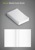 Blank of book cover, vector illustration. Template for your design. Royalty Free Stock Photo