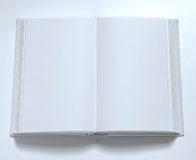 Blank book cover white. Model white open book on white background Stock Image