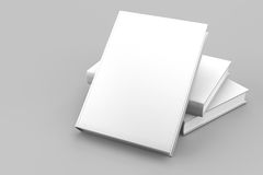 Blank book cover white isolated. On white background royalty free illustration