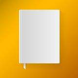Blank Book Cover With A Bookmark. Object For Stock Images