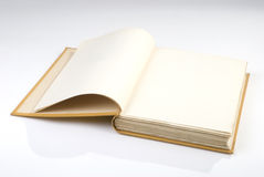Blank book cover yellow Royalty Free Stock Photo