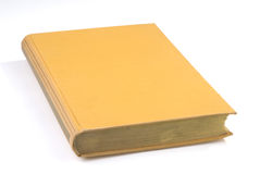 Blank book cover yellow Stock Image
