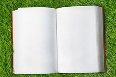 Blank book on the grass Royalty Free Stock Image