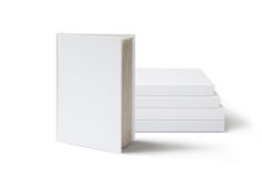 Blank book mockup on white background. Stock Photography