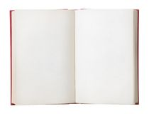 Blank Book Open. Open book with blank pages. Isolated on a white background Stock Images