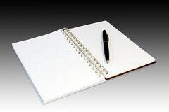 BLANK BOOK OPEN. Open book with blank pages. Isolated on a white background Royalty Free Stock Photos
