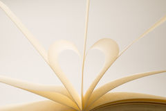 Blank Book Pages Forming a Heart Shape Royalty Free Stock Images