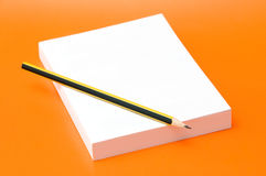 Blank book and pencil Royalty Free Stock Photo