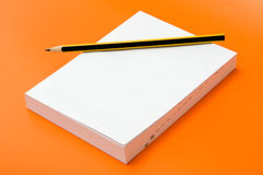 Blank book and pencil Royalty Free Stock Image