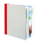 Blank book, photo album. Stock Photo
