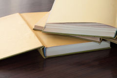 Blank book. Photo of three open books with blank page Royalty Free Stock Photos