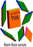 Blank book sample stock photos