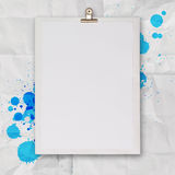 Blank book and splash colors choice Royalty Free Stock Images