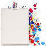 Blank book and splash colors choice Royalty Free Stock Image