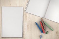 Blank book top view Royalty Free Stock Images
