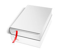 Blank Book on white Royalty Free Stock Photos