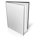 Blank Book on white Stock Image