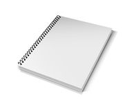 Blank Book on white Stock Photography