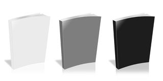 Blank Book. On white background Stock Image