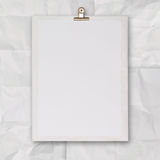 Blank book and wrinkled paper background Royalty Free Stock Images